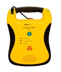 Defibtech Lifeline AED Automated External Defibrillator DCF-100, DCF-100RX, DCF-A100-RX-EN. The Defibtech Lifeline AED is a rugged portable defibrillator that is easy to use and designed with the AED rescuer in mind.
