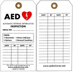 AED Inspection Tags, 5 Pack- AED Inspection Tags allow you to quickly identify when Automated External Defibrillator equipment was last tested. Record your AED inspections on our AED inspection tags.
