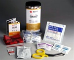 CPR/AED Rescue Kit - When time is critical, these items can help save a life. The American Red Cross CPR/AED Responder Packs contain the supplies necessary to perform CPR and utilize and AED. RC-643
