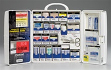 First Aid Only Smart Compliance - This general business first aid kit is ideal for businesses, offices, and work sites. The swing-out door and easy-to-carry handle add extra convenience. First Aid Only 1000-FAE-0103