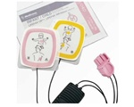 Infant/Child Reduced Energy Defibrillation Electrodes Compatibility – use only with Physio-Control LIFEPAK 500 AEDs with a pink connector or any LIFEPAK CR® Plus defibrillator. Intended for use on children less than 8 years of age (55lbs). 11101-000016