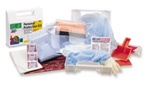 Bloodborne Pathogen Personal Protection Kit Our 13-piece personal protection bloodborne pathogen kit is designed to guard persons attending to the injured or ill. (Many companies specifically require this kind of protection.) 213-U