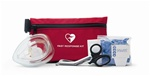 The Philips Fast Response AED Rescue Kit contains the essential items for providing effective defibrillation to someone. The kit contains scissors, razor, towel, cpr barrier, gloves and antiseptic. 68-PCHAT