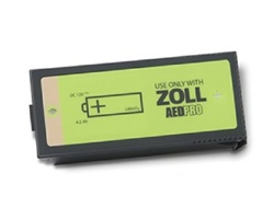 ZOLL AED Pro Non-Rechargeable Lithium Battery Pack. For use with ZOLL AED Pro Defibrillators. 8000-0860-01