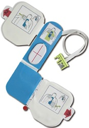 "ZOLL AED Plus training pads (CPR-D Training Padz) with reusable ""Z Deisgn"" electrode with CPR hand placement indicator and One (1) pair of disposable adhesive gels. TRAINING PADS ARE NOT FOR CLINICAL USE! 8900-0804-01"