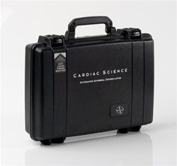 The Cardiac Science hard-sided waterproof AED carry case is a great storage solution for rugged environments. Pelican Case. 9157-004