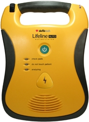 Defibtech Lifeline Automatic AED Automated External Defibrillator. The Defibtech Lifeline AED is a rugged portable defibrillator that is easy to use and designed with the AED rescuer in mind. DDU-120, DCF-A120-EN, DCF-A130-EN, DCF-A120RX-EN, DCF-A130RX-EN