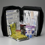 Deluxe Emergency Preparedness/Survival Kit, 168 Piece Our first aid supplies are combined with basic survival components in this truly comprehensive kit. The 168-pieces have been thoughtfully chosen and arranged in a durable, ballistic nylon carry case.