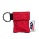 CPR Rescue Breather ™ faceshield in nylon pouch on key chain. Perform CPR and artificial resuscitation without the risk of ingesting harmful bacteria. J-5095
