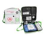 LIFE Start System, The LIFE StartSystem from Life Corporation is emergency oxygen in a soft case that is compatible with the Philips Onsite AED. Now you can carry your Philips Heartstart Onsite AED and emergency oxygen all in one case. LIFE-02-LSS