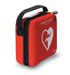The Philips Heartstart Onsite slim carry case is constructed with semi-rigid materials and covered in durable red cordura. The case holds the Philips HeartStart OnSite Defibrillator and includes paramedic scissors. M5076A