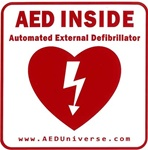 "Our AED Inside sticker is a great option when AED's are placed inside doors or rooms. AED stickers and signs allow rescuers to quickly and easily identify the location of the AED within a building or area. AED sticker measures 5"" x 5"". NWHS111090"