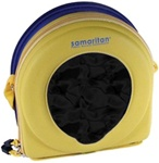 The Heartsine Samaritan® PAD AED replacement AED custom designed case with two zippered compartments. PAD-BAG-01